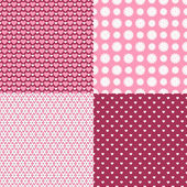 Set of floral  and romantic patterns — Vector de stock