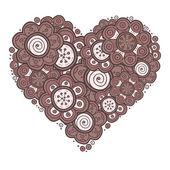 Heart of flowers — Vector de stock