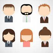 Set of colorful office people icons — Stock Vector