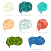 Set of trendy crystal shapes — Stock vektor
