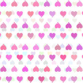 Romantic pattern with hearts — Stock Vector