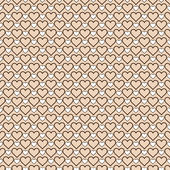 Romantic  pattern with hearts — Vettoriale Stock