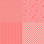 Set of romantic  patterns with hearts — Stock Vector