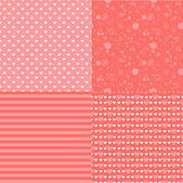 Set of romantic patterns with hearts — Vetor de Stock