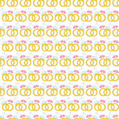 Seamless pattern with gold wedding rings — Vector de stock