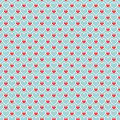 浪漫无缝模式与心 — 图库矢量图片