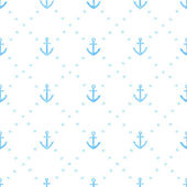 Marine watercolor seamless pattern of anchors — Stock Vector
