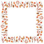Watercolor autumn frame — Stock Vector