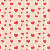 Romantyczne bezszwowe wzór z serca — Wektor stockowy
