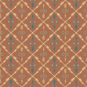 Ethnic colorful seamless pattern with arrows — Vector de stock