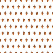 Seamless pattern hand drawn acorns — Stock Vector