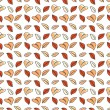 Colorful autumn leaves seamless pattern. Background. Vector illustration. Endless texture can be used for printing onto fabric and paper or scrap booking. — Stock Vector #51046793