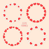 Vector romantic frame with hearts. Illustration. — Vettoriale Stock