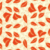 Colorful autumn leaves seamless pattern. Background. Vector illustration. Endless texture can be used for printing onto fabric and paper or scrap booking. — Stock Vector