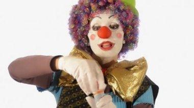 小丑和肥皂泡沫 — 图库视频影像