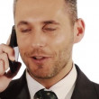 Close up of businessman on his phone — Stock Video