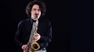 Saxophonist — Stock Video