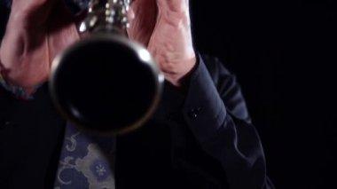 Clarinet close up — Stock Video