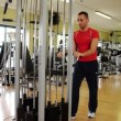 Stock Video: Triceps exercises