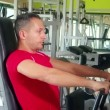 Stock Video: Exercise to build pectoral muscles