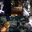 Stock Video: Metalworking collage