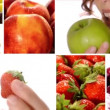 Beautiful woman eating fruit, collage — Stock Video #35977997
