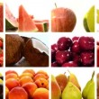 Diverse fruits collage — Stock Video