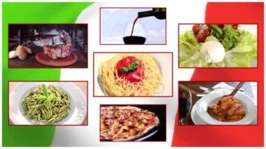 Italian cuisine — Stockvideo