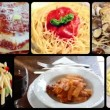 Stock Video: Italian pasta dishes, collage