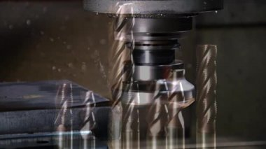 Milling machine, edited sequence — Stock Video