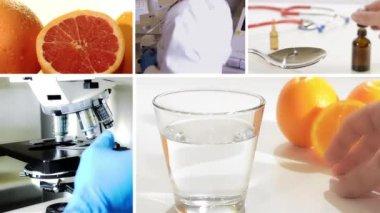 Vitamin c, collage — Vídeo Stock
