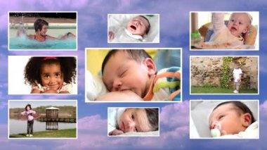 Children collage — Stock Video