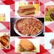 Stock Video: Fast food composition