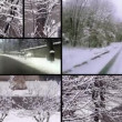 Stock Video: Snowy day collage