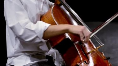 Cellist close up — Stock Video