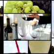 Pouring wine, collage  — Stock Video