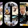 Job collage on black  — Stock Video