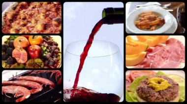 Food and drink, montage — Stock Video