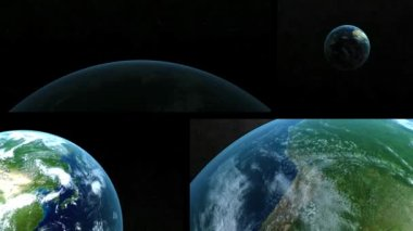 Vision of the earth from outer space — Vídeo de stock