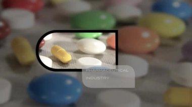 Montagem da cadeia farmacêutica — Vídeo Stock
