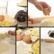 Home made pasta, collage — Stock Video #36953945