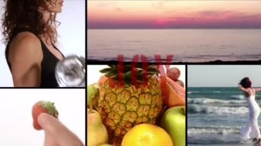 Joy, vitamins, fitness, beauty — Stock Video