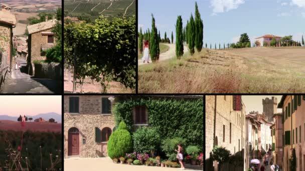 Toscana, montalcino — Vídeo de stock