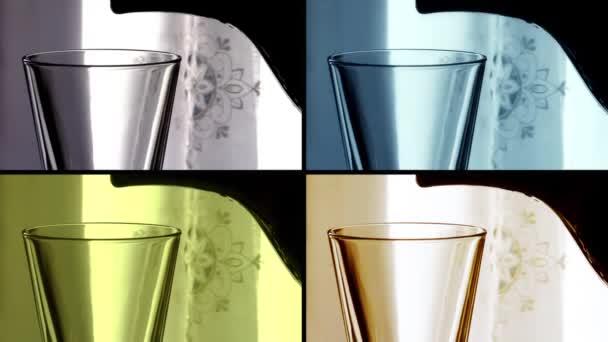 Un vaso de agua, collage — Vídeo de stock