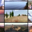 Wonderful tuscany collage — Stock Video