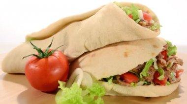 Doner kebab — Stock Video