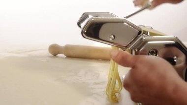 Homemade pasta — Stock Video