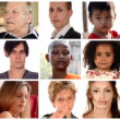 Collage of people of different racial and ethnic backgrounds — Stock Video #42314985