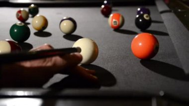 Billiard akce — Stock video