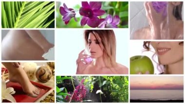 Beauty care collage — Stock Video
